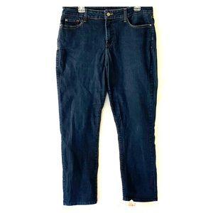 NYDJ Boyfriend Blue Denim Jeans. Sz 16